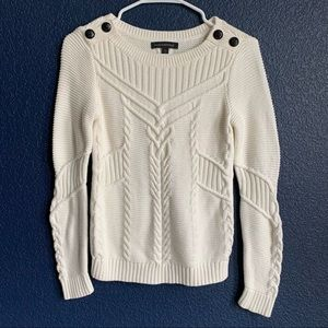 Banana Republic sz XS off white cable knit sweater